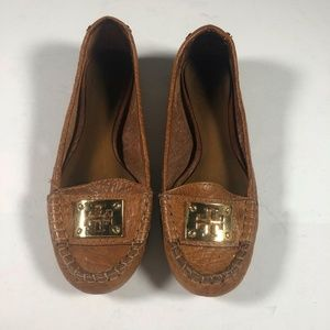 Tory Burch flats loafers tan brown size 5.5